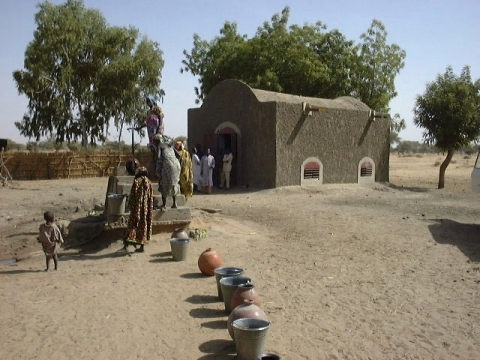 Woodless construction cereal bank in Niger